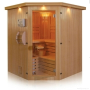 Finnish corner sauna with 6 places