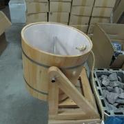 Студен душ с дървена стойка TS-36004