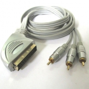 Аудио видео кабел YU1225 SCART-3RCA