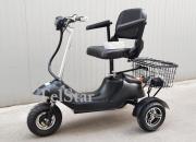 Електрическа триколка TS-350-2+  500W с луксозна кожена седалка кресло  с подлакътници