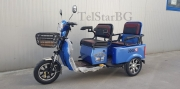 Двуместна карго електрическа триколка TS ET-005 1500W
